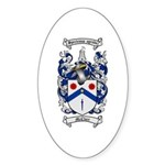 McClure Family Crest Oval Sticker