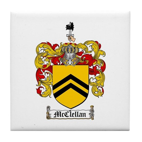 McClellan Family Crest Tile Coaster