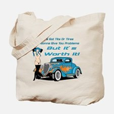 Tits And Tires Tote Bag