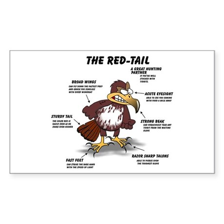 The Red-tail Rectangle Sticker
