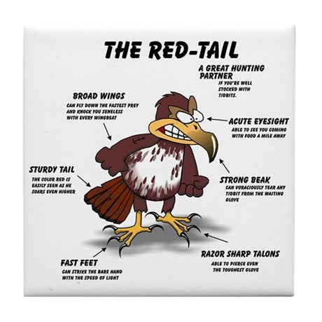 The Red-tail Tile Coaster