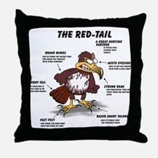 The Red-tail Throw Pillow