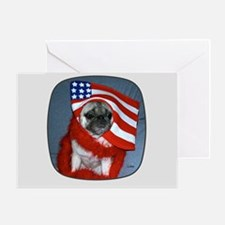 4th of Pug Greeting Card