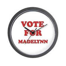 Vote for MADELYNN Wall Clock