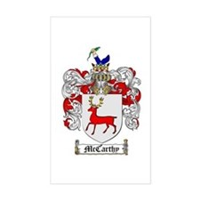 McCarthy Family Crest Rectangle Decal