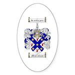 McCallum Family Crest Oval Sticker