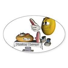 Smiley Physical Therapy Oval Decal