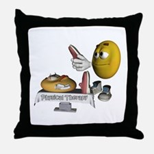 Smiley Physical Therapy Throw Pillow