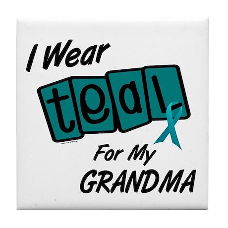 I Wear Teal 8.2 (Grandma) Tile Coaster