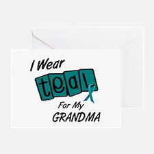 I Wear Teal 8.2 (Grandma) Greeting Card