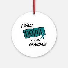 I Wear Teal 8.2 (Grandma) Ornament (Round)