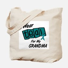I Wear Teal 8.2 (Grandma) Tote Bag