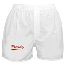 Vintage Vicente (Red) Boxer Shorts