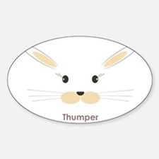 personalized bunny gifts Oval Decal