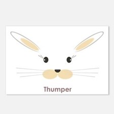 personalized bunny gifts Postcards (Package of 8)