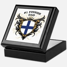 Number One Finnish Dad Keepsake Box