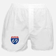 Interstate 69, USA Boxer Shorts