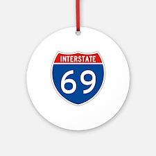 Interstate 69, USA Ornament (Round)