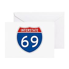 Interstate 69, USA Greeting Cards (Pk of 10)