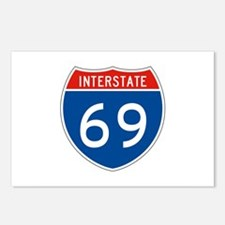 Interstate 69, USA Postcards (Package of 8)