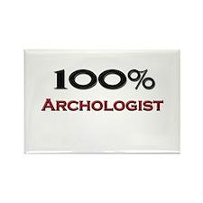 100 Percent Archologist Rectangle Magnet