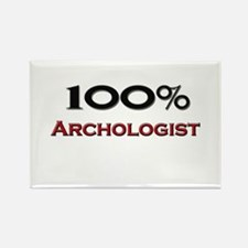 100 Percent Archologist Rectangle Magnet