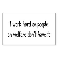 welfare Rectangle Decal