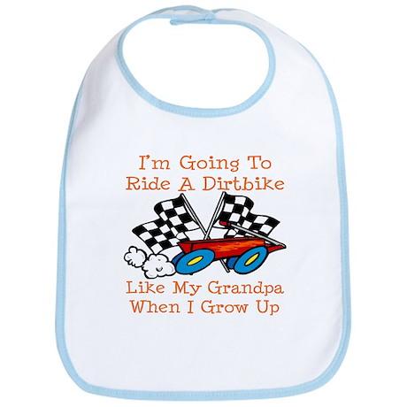 Dirtbike Like Grandpa Bib