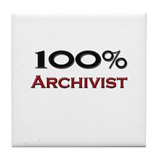 100 Percent Archivist Tile Coaster