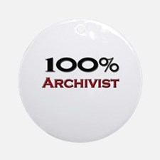100 Percent Archivist Ornament (Round)