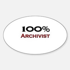 100 Percent Archivist Oval Decal