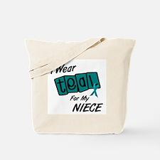 I Wear Teal 8.2 (Niece) Tote Bag