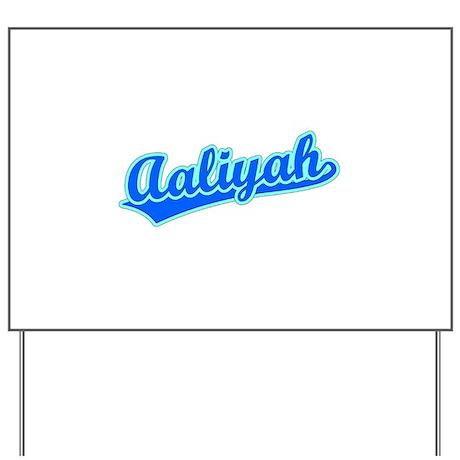 Retro Aaliyah (Blue) Yard Sign