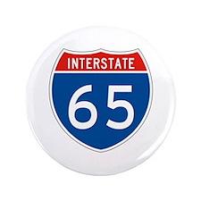 """Interstate 65, USA 3.5"""" Button"""