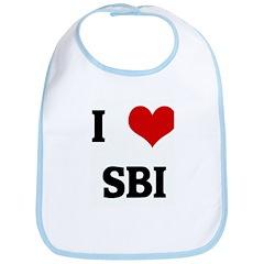 I Love SBI Bib