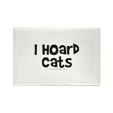 I Hoard Cats Rectangle Magnet
