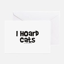 I Hoard Cats Greeting Cards (Pk of 10)