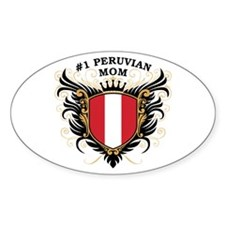 Number One Peruvian Mom Oval Decal