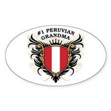 Number One Peruvian Grandma Oval Decal