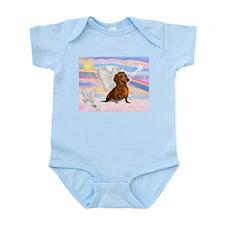 Dachshund / Angel (brn) Infant Bodysuit