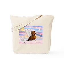 Dachshund / Angel (brn) Tote Bag