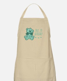Green Marble Teddy Due In January BBQ Apron