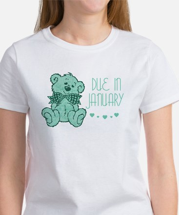 Green Marble Teddy Due In January Women's T-Shirt