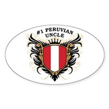Number One Peruvian Uncle Oval Decal