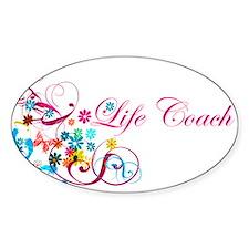 Feminine Life Coach Oval Decal