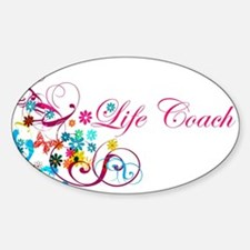 Feminine Life Coach Oval Decal