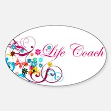 Feminine Life Coach Oval Stickers
