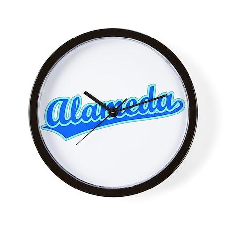 Retro Alameda (Blue) Wall Clock