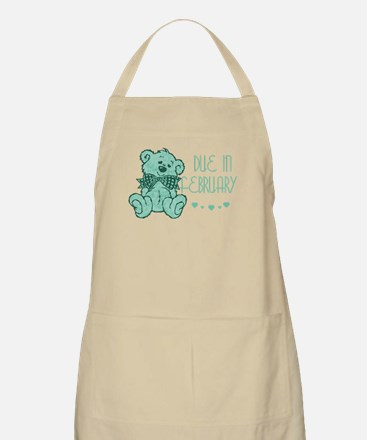 Green Marble Teddy Due February BBQ Apron
