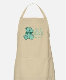 Green Marble Teddy Due In March BBQ Apron